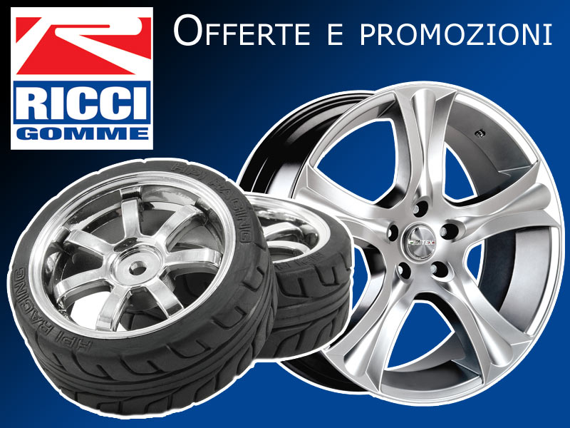 Offerte pneumatici cerchi in lega auto moto